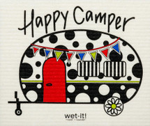 Happy Camper Swedish Dishcloth