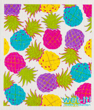 Colorful Pineapples Swedish Dishcloth