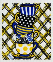 Teacups Swedish Dishcloth