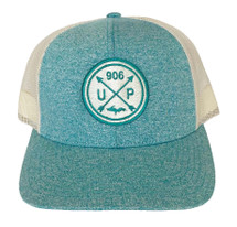 Green Teal Heather/Birch U.P. 906 Hat