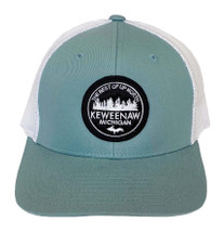 Smoke Blue/White Keweenaw MI Hat