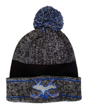 Grey, Blue, and Black U.P. Cross Hockey Sticks Winter Hat