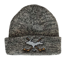 Heather Grey U.P. Cross Hockey Sticks Winter Hat