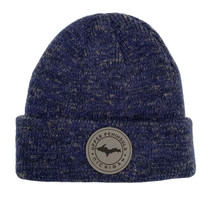 Heather Navy U.P. Leather Patch Winter Hat