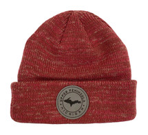 Heather Red U.P. Leather Patch Winter Hat