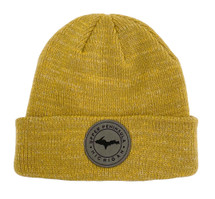 Mustard U.P. Leather Patch Winter Hat