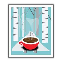 Coffee Skiier Swedish Dish Cloth