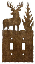 Double - Deer Switch Plate Cover