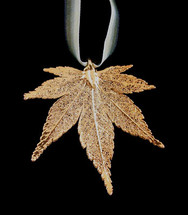 Japanese Maple Leaf Ornament - Gold