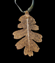 Oak Leaf Ornament - Gold