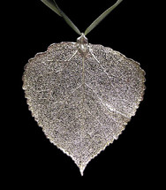 Aspen Leaf Ornament - Silver