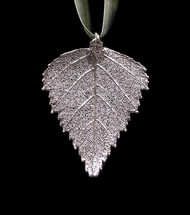 Birch Leaf Ornament - Silver