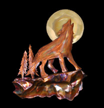 Copper Wolf Wall Hanging