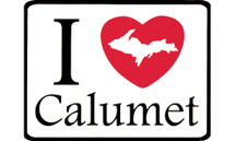 I Love Calumet Car Magnet