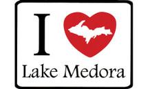 I Love Lake Medora Car Magnet