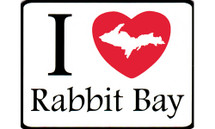 I Love Rabbit Bay Car Magnet