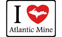 I Love Atlantic Mine Car Magnet