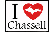 I Love Chassell Car Magnet