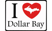 I Love Dollar Bay Car Magnet
