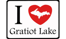 I Love Gratiot Lake Car Magnet