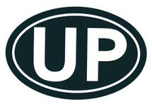 UP Bumper Sticker (Green/White)
