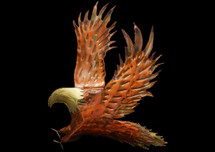 Copper Eagle Wall Hanging