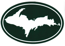 U.P. Map Bumper Sticker