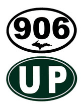 906 - UP Mini Oval Bumper Stickers