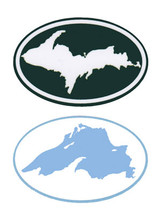 Upper Peninsula - Lake Superior Mini Bumper Stickers