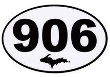 906 Upper Peninsula Bumper Sticker