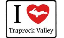 I Love Traprock Valley Car Magnet