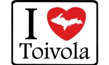 I Love Toivola Car Magnet