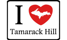 I Love Tamarack Hill Car Magnet