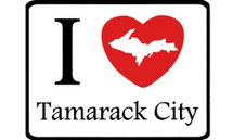 I Love Tamarack City Car Magnet