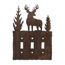 Triple - Deer Switch Plate Cover
