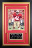 Ronnie Lott Framed 8x10 San Francisco 49ers Photo with Nameplate (DS-P1C)