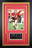 Ronnie Lott Framed 8x10 San Francisco 49ers Photo with Nameplate (DS-P2C)