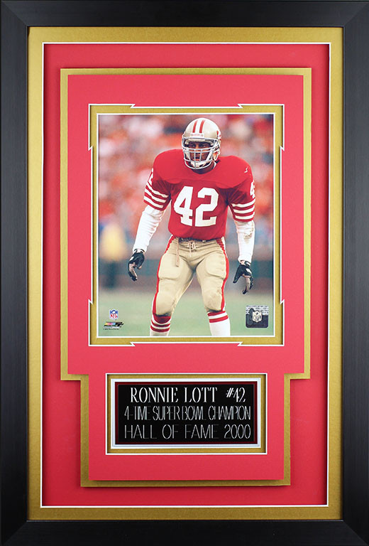 cheap for discount ee2b9 9905d Ronnie Lott Framed 8x10 San Francisco 49ers Photo with Nameplate