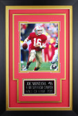 Joe Montana Framed 8x10 San Francisco 49ers Photo with Nameplate (JM-P1C)