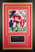 Joe Montana Framed 8x10 San Francisco 49ers Photo with Nameplate (JM-P1C)