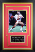 Joe Montana Framed 8x10 San Francisco 49ers Photo with Nameplate (JM-P2C)