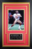 Joe Montana Framed 8x10 San Francisco 49ers Photo with Nameplate (JM-P2C)