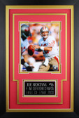 Joe Montana Framed 8x10 San Francisco 49ers Photo with Nameplate (JM-P3C)