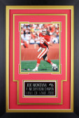 Joe Montana Framed 8x10 San Francisco 49ers Photo with Nameplate (JM-P5C)