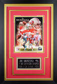 Joe Montana Framed 8x10 San Francisco 49ers Photo with Nameplate (JM-P7C)