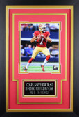 Colin Kaepernick Framed 8x10 San Francisco 49ers Photo with Nameplate (CK-P3C)