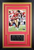 Steve Young Framed 8x10 San Francisco 49ers Photo with Nameplate (SY-P1C)