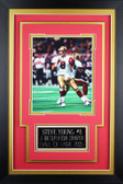 Steve Young Framed 8x10 San Francisco 49ers Photo with Nameplate (SY-P2C)