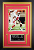 Jerry Rice Framed 8x10 San Francisco 49ers Photo with Nameplate (JR-P1C)