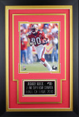 Jerry Rice Framed 8x10 San Francisco 49ers Photo with Nameplate (JR-P3C)